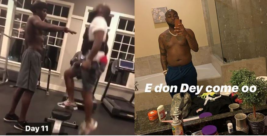 Davido hits the gym as he embarks on a 1-month program to acquire six packs