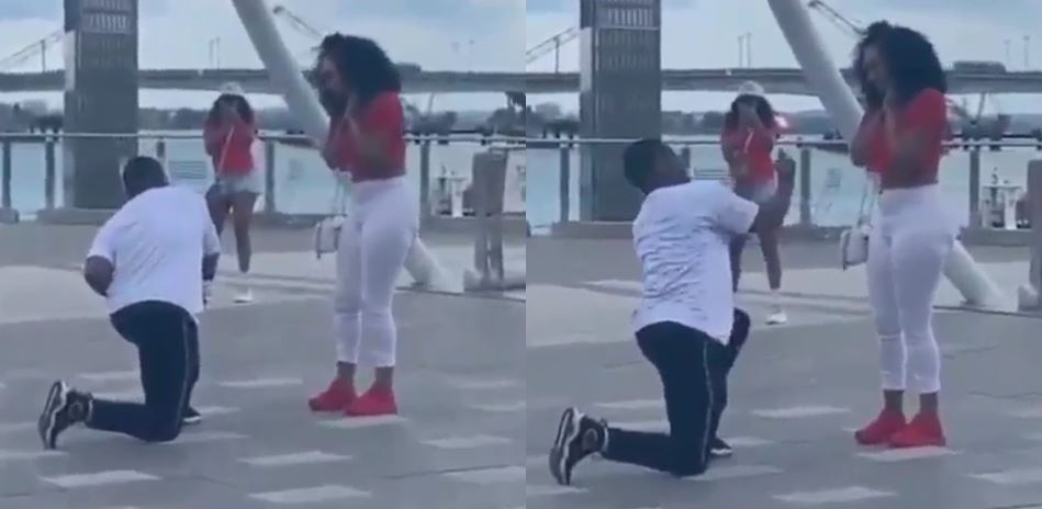 Boyfriend fakes proposal and invites his girlfriend's friends just to disgrace her