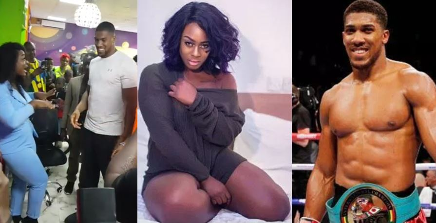 Ex-BBNaija housemate, Uriel finally gets to meet her crush, Anthony Joshua (Video)