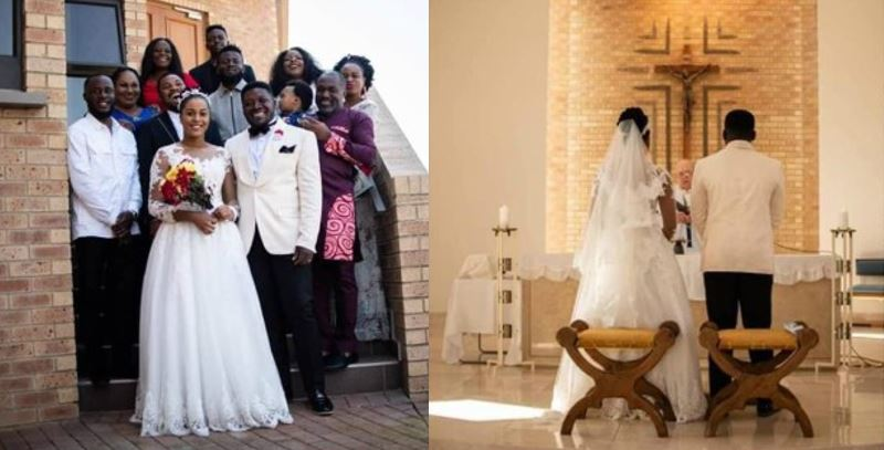 Young couple invite less than 20 guests to their wedding, Nigerians react