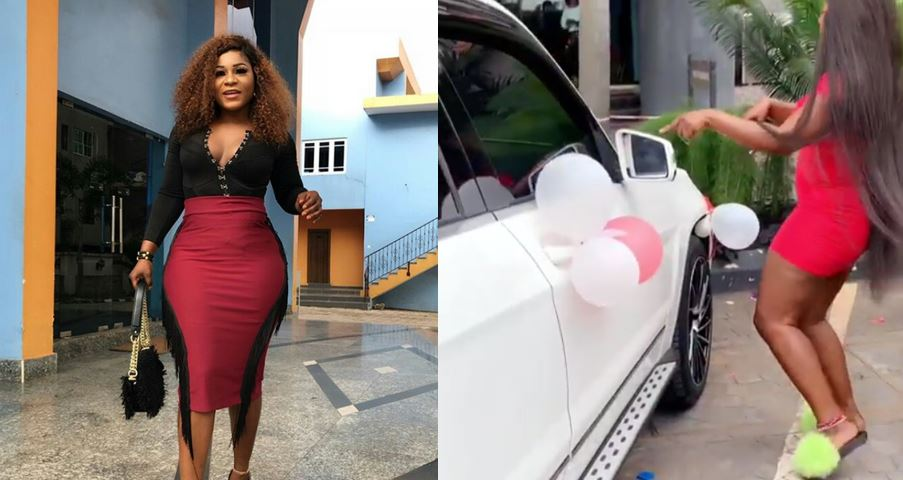 Destiny Etiko gets a brand new Benz as birthday gift (Video)