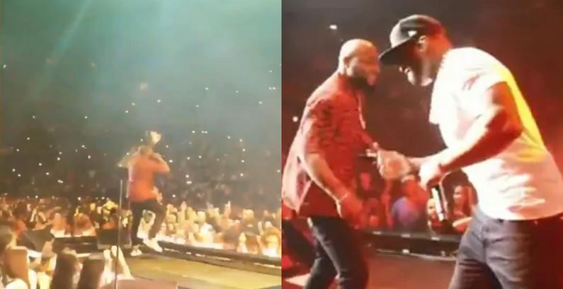 Davido performs with 50 Cent in New York (Video)