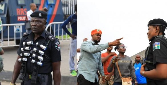 Photos from #RevolutionNow, heavily armed security operatives storm roads, streets