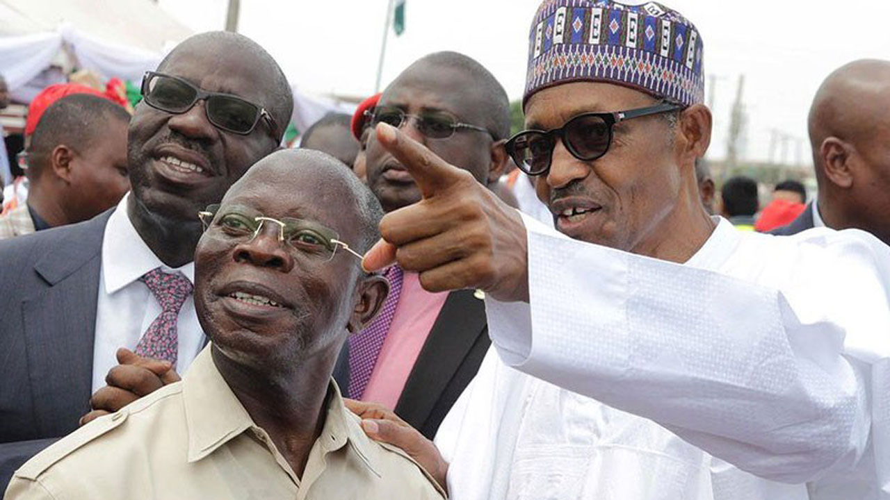 President Buhari can beat his chest to say he has started very well and fast – Adams Oshiomhole