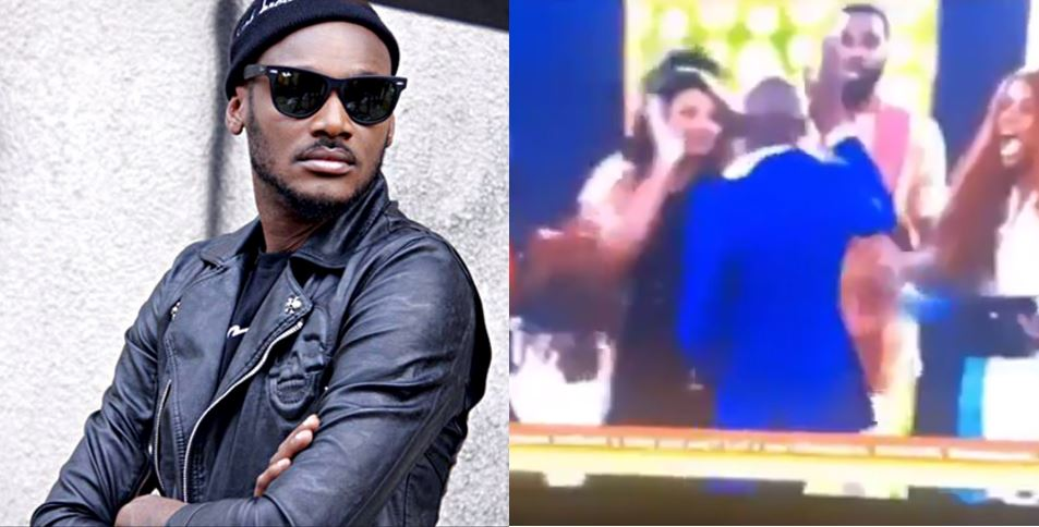 Nigerians react after Tacha snubbed 2face's handshake during his visit to the BBNaija house (Video)