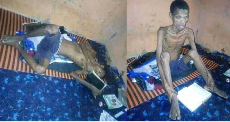 Photos of Nigerian student rushed to the hospital after he engaged in 41-days of fasting and prayer