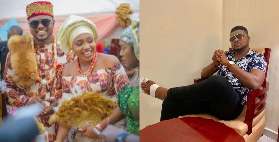 Nollywood actor, Ken Erics calls on God days after his wife revealed that their marriage is over