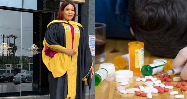 Nigerian lady narrates how she overcame drug addiction to graduate with second class upper