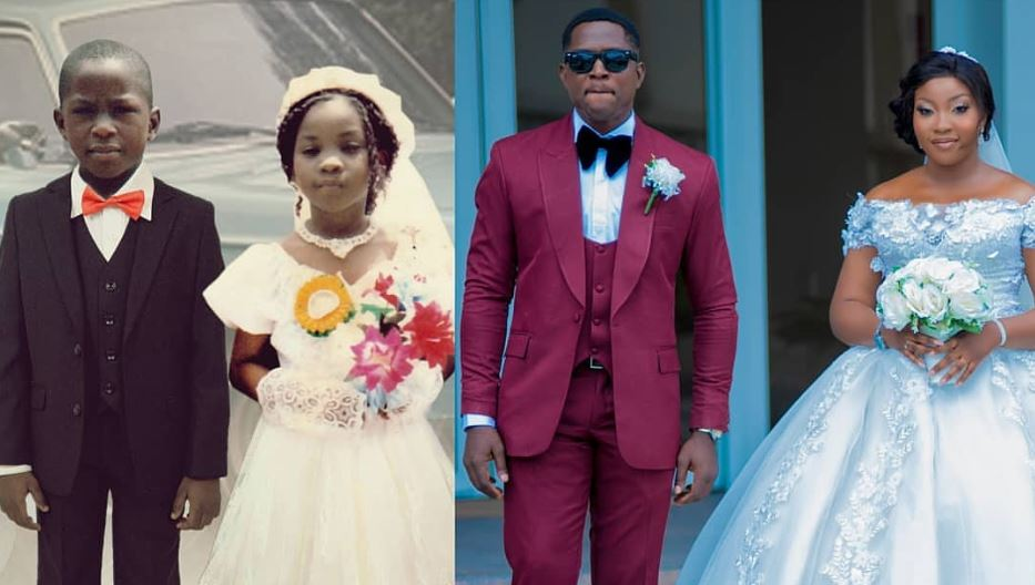 #Lovely: Couple who got married years after they served as little bride and page boy at a wedding shares their love story