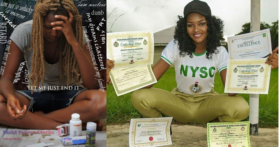 """""""I am dying inside"""" – Popular Ex Corps member, Progress Oberiko, pens down a suicide note in the most remarkable way"""