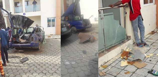 Warning: How cooking gas cylinder left in car under the sun for five hours exploded (Photos)
