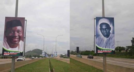 See Portraits of Nigerian Presidents From Independence To Date Hung in Major Streets in Abuja