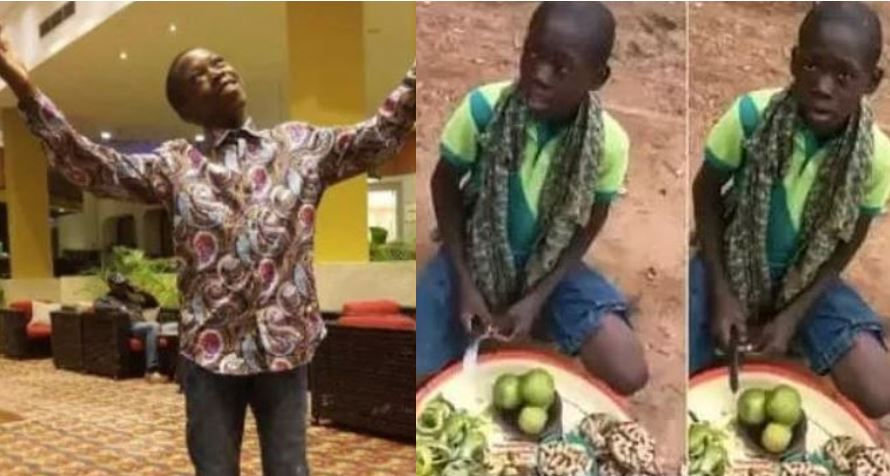 New photos of young former orange seller who went viral for singing Tope Alabi's song, what an amazing transformation