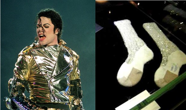 Record breaker! Michael Jackson's socks to be sold for up to $2m