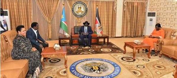 TB Joshua received in South Sudan by President and First Lady