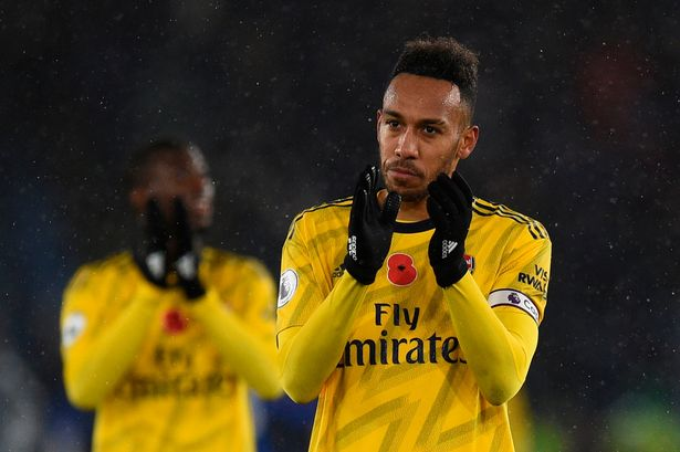 PHOTOS: See wreckage of car after Aubameyang had accident before Arsenal's game