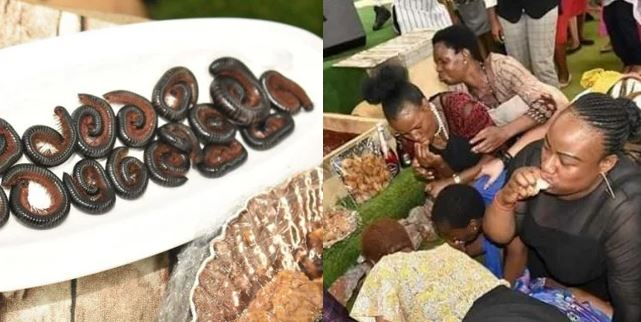 Pastor feeds church members with millipede and beer to fulfill the scripture (Photos)