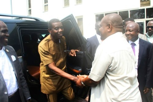 E.A Adeboye, Nyesom Wike meet in Rivers State Government House (SEE PICTURES)