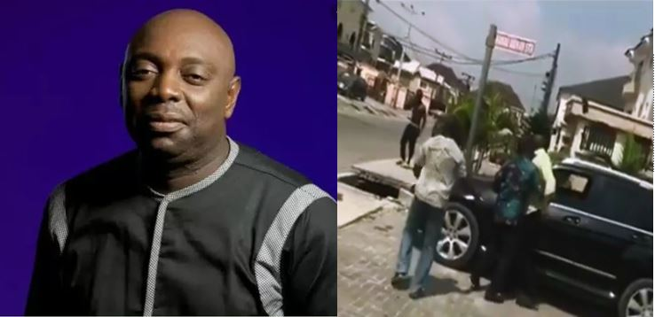 Veteran Nollywood actor, Segun Arinze beats up his house-help for using his car (Video)