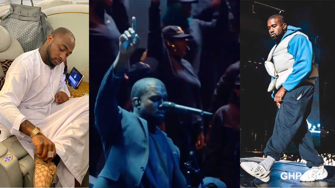 Kanye West remixes Davido's IF at Church service (SEE VIDEO)