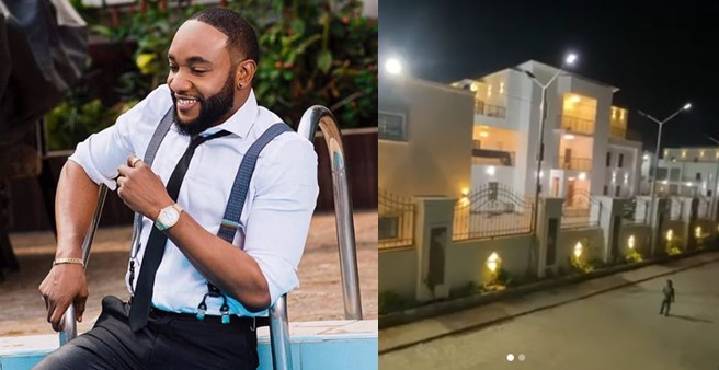 Video: Kcee shows off his newly completed mansion in Anambra state
