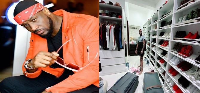 """Peter Okoye shows off his closet, promises a lucky fan 30 seconds to """"raid it"""""""