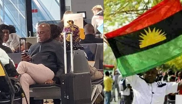 Lady alerts IPOB members about Amaechi's location after spotting him at the airport
