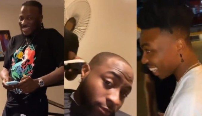 Davido and his crew have a good time at Mayorkun's house (Video)