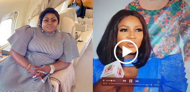 Eniola Badmus reacts to Omotola guessing who she is during an interview (Video)