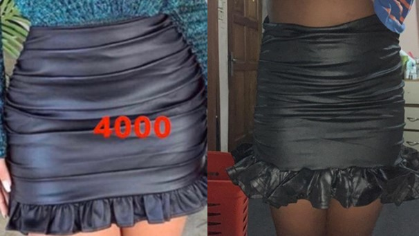 Lady shares picture of what she ordered vs what she got from a Nigerian vendor