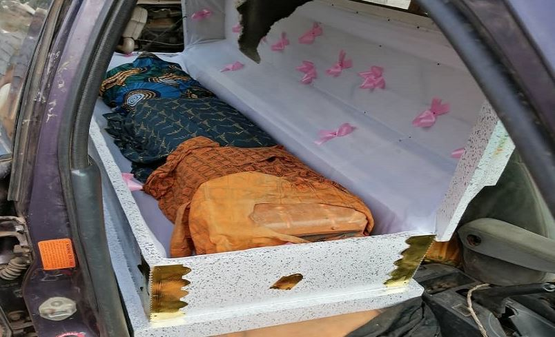 19 jerrycans of fuel packed inside two caskets intercepted at Nigeria border by customs