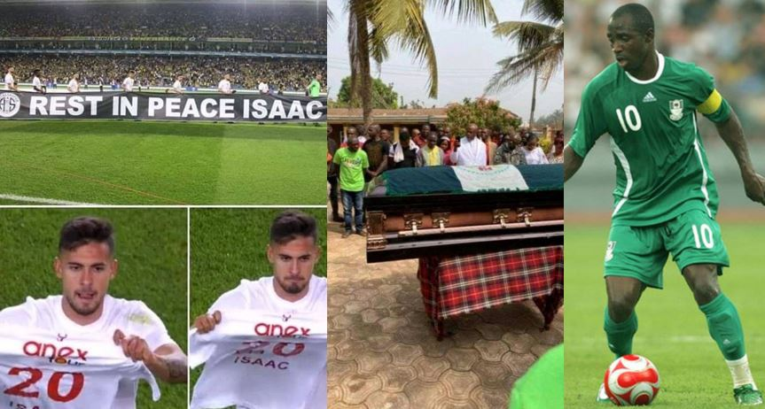 How late Nigerian footballer, Isaac Promise was honoured by foreign clubs after his burial was neglected by NFF and former teammates