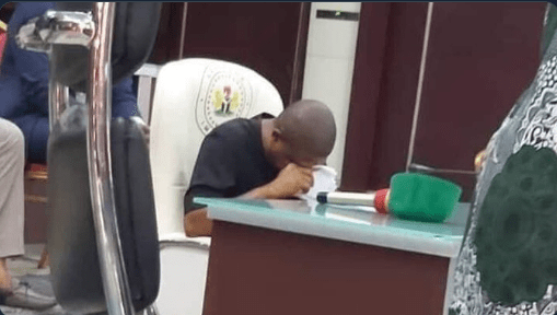 Ihedioha reveals viral photo of him crying is old, was taken during burial in December