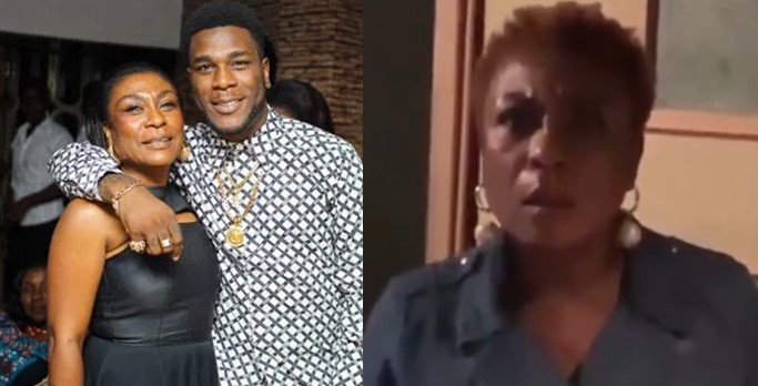 Burna Boy's mom expresses shock as he honours her by using her quote in the outro of African Giant album (Video)