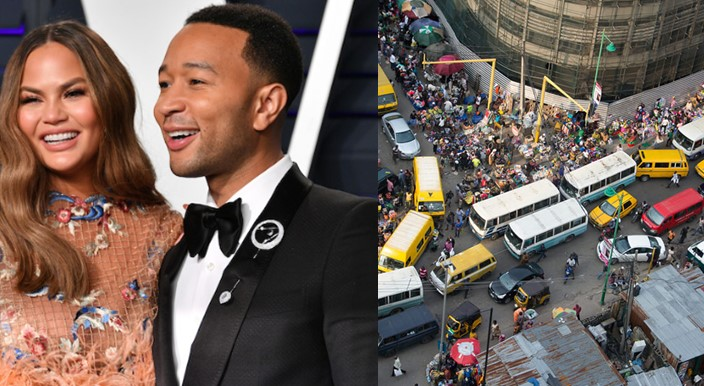 John Legend visits Nigeria as his wife Chrissy indicates interest to do same