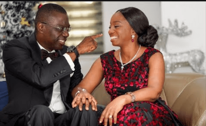 Lagos Governor, Sanwo-Olu takes to Instagram, writes very romantic message for wife on birthday