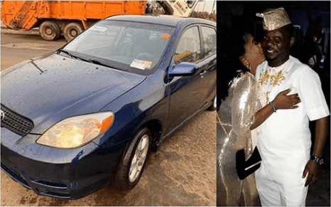 Nollywood actor, Kunle Afod gifts wife brand new car