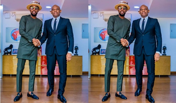 """""""Had an amazing time with the Lion himself """" – Patoranking says as he shares photos from his meeting with Tony Elumelu"""