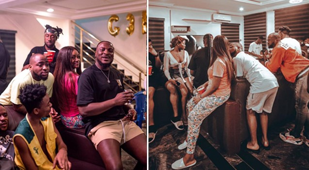 Exclusive photos and video of Chioma partying with Davido, Mayorkun, Peruzzi, others, days before she tested positive for coronavirus