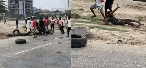 Mob in Warri attack soldiers in reprisal attack for killing of a young man because of lock down