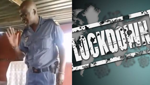 South African police officer prays before arresting a pastor for defying the covid-19 lockdown (Video)