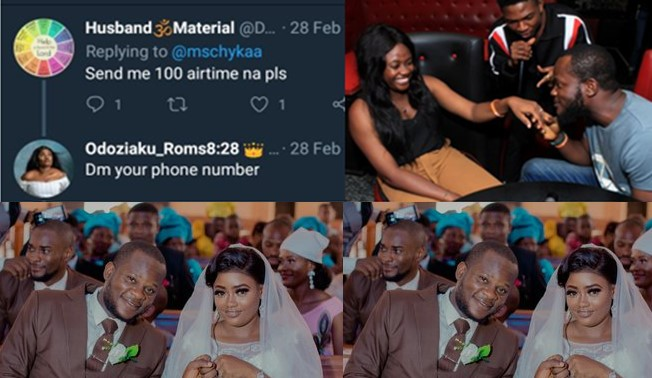 Woman shares beautiful love story of how she married a man who begged her for N100 airtime on Twitter (Photos)