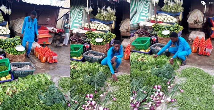 Tailor reveals how lockdown forced him to start selling pepper and tomatoes to survive (Photos)