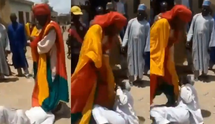 Video: Bauchi Emir orders palace guards to flog Imam for conducting prayers in crowded Mosque