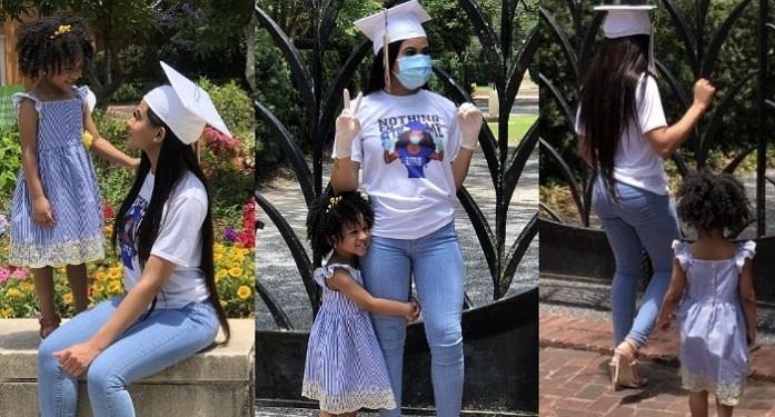 Teen mom who got pregnant at 14 celebrates her graduation with lovely photos