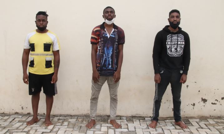 Police parade 24 cyber crime suspects including one female, 3 brothers (Details)