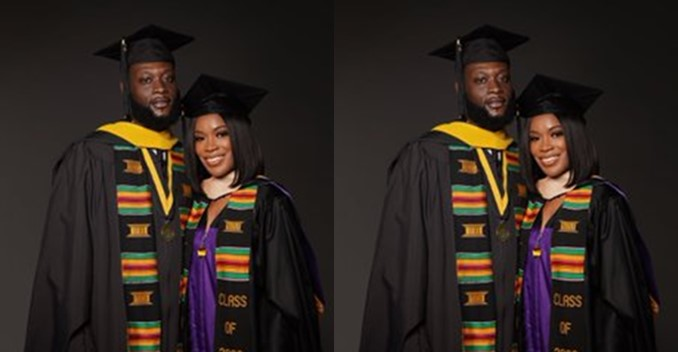 Couple Goals: Husband and wife bag masters degree at the same time (Photos)
