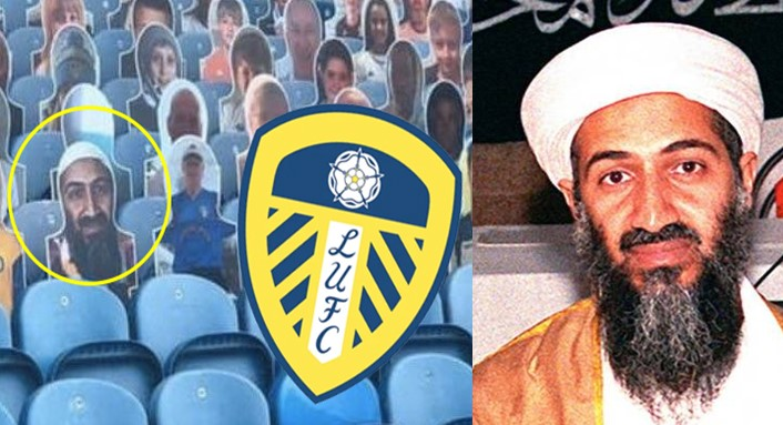 Leeds United takes action as cut out photo of Osama bin Laden in stands causes uproar