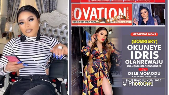 Bobrisky becomes first Nigerian transgender person to make cover of Ovation Magazine