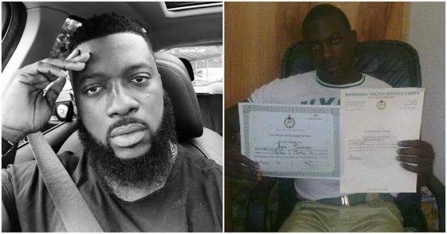 Seun Jimoh brags about his NYSC year, says he always outstands his peers